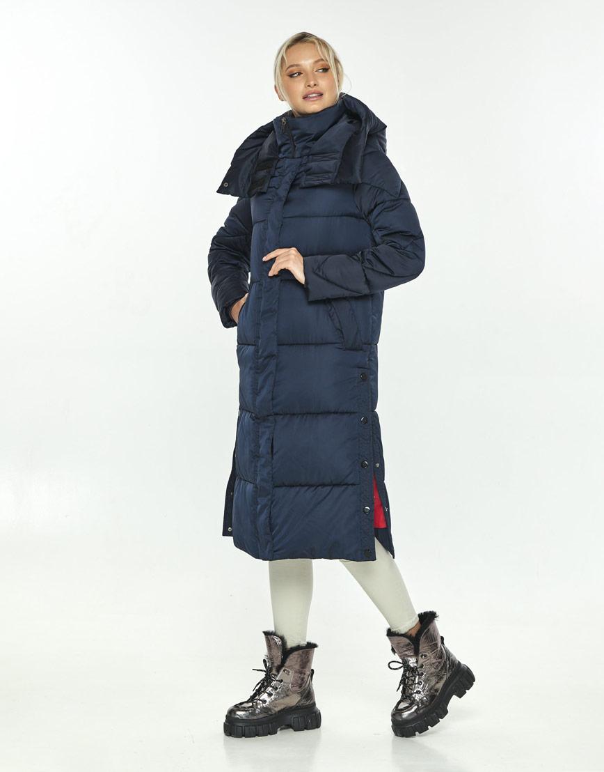 Зимняя синяя куртка женская Kiro Tokao стильная 60024 фото 2