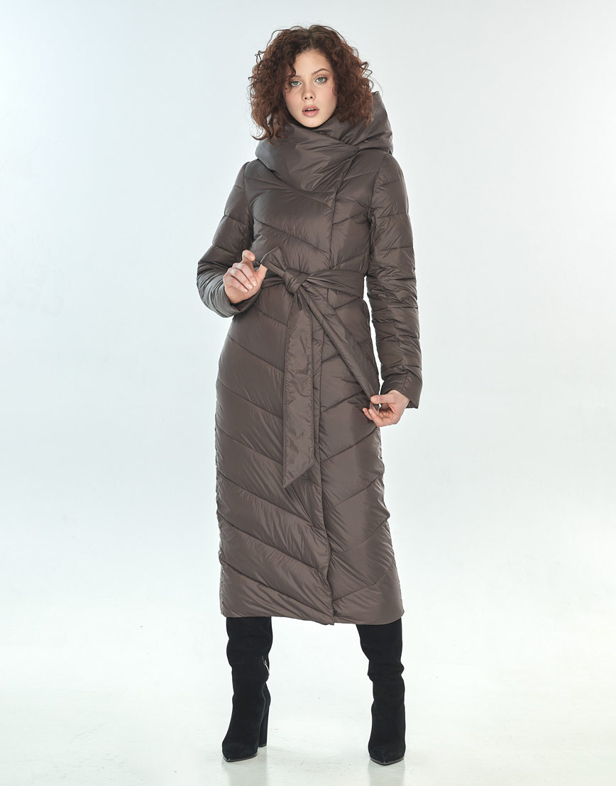Зимняя капучиновая куртка женская Moc длинная M6471 фото 1