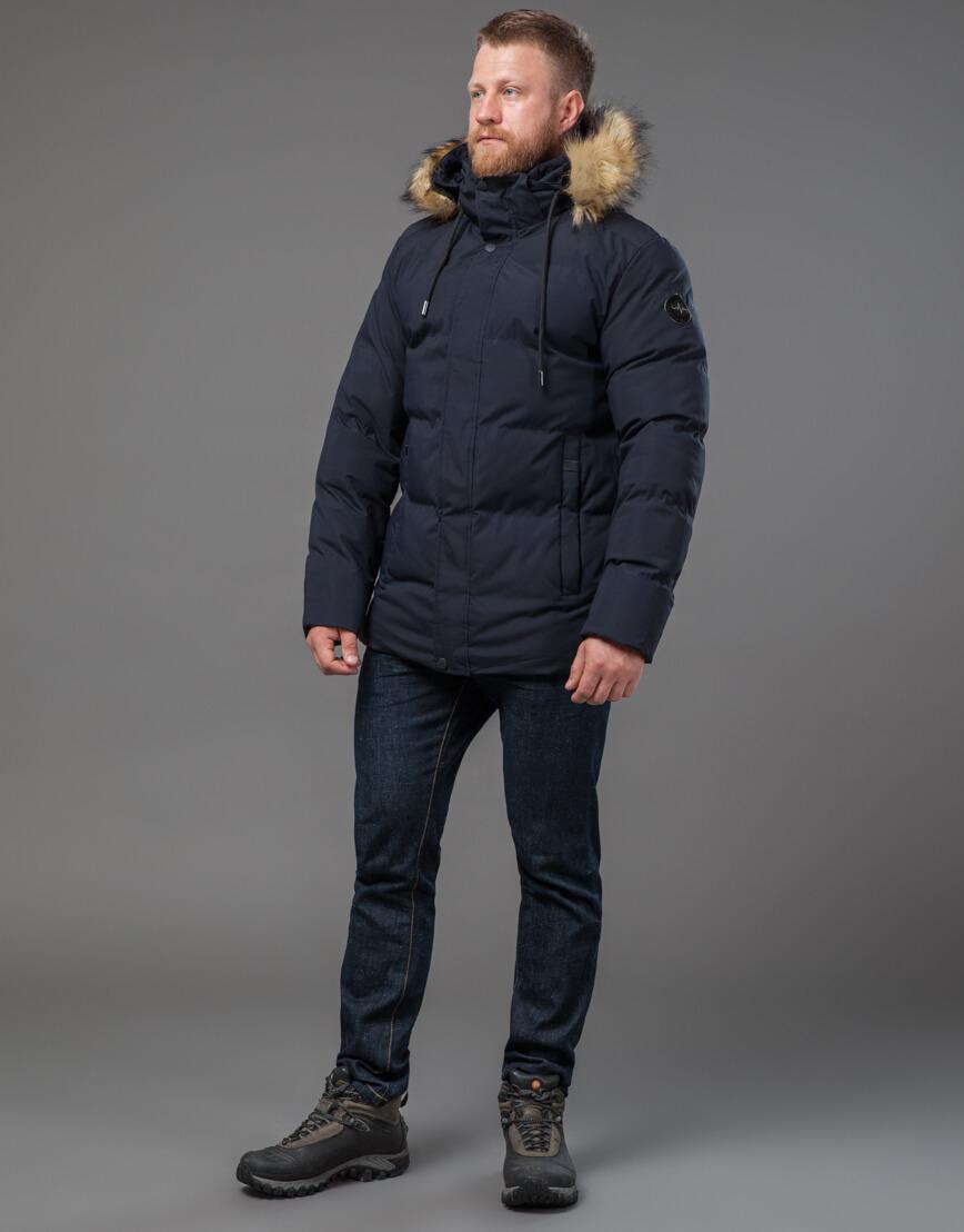 Модная куртка синего цвета модель 78270 оптом