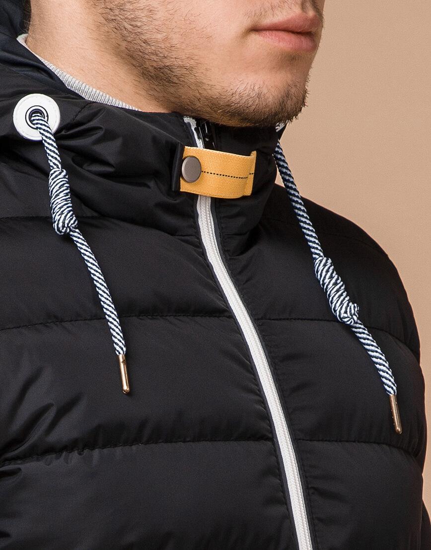 Куртка на зиму мужская цвет черный-желтый модель 35228 оптом фото 4