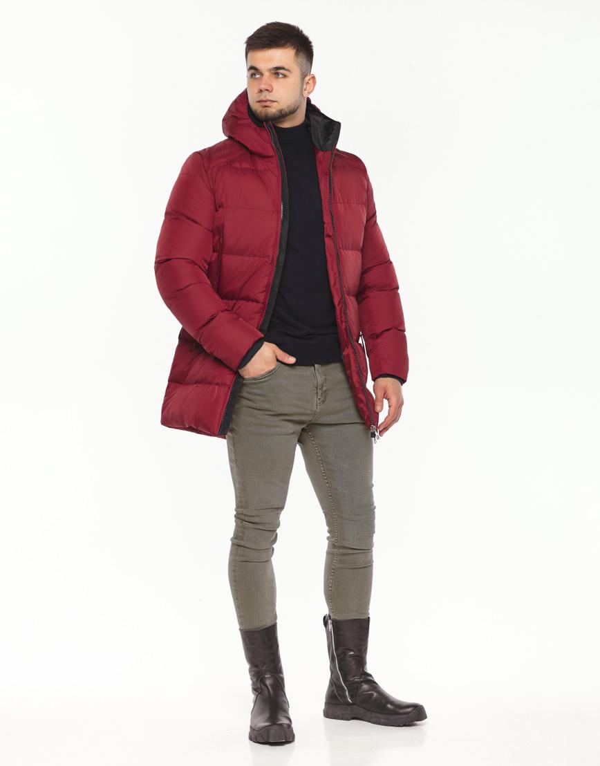 Брендовая куртка красная зимняя модель 38050 фото 2