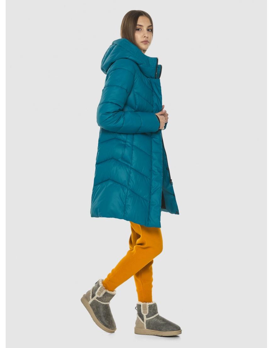 Стильная аквамариновая куртка женская Vivacana 7821/21 фото 3
