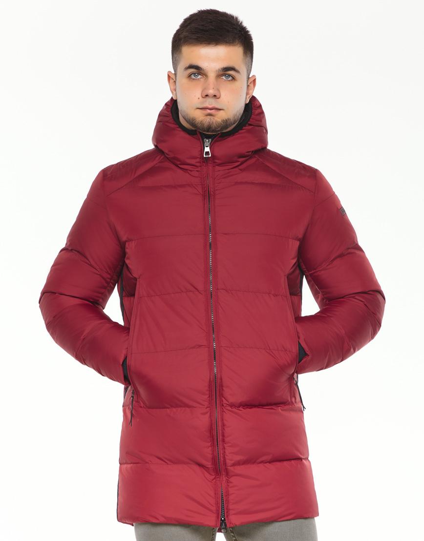 Брендовая куртка красная зимняя модель 38050 фото 3