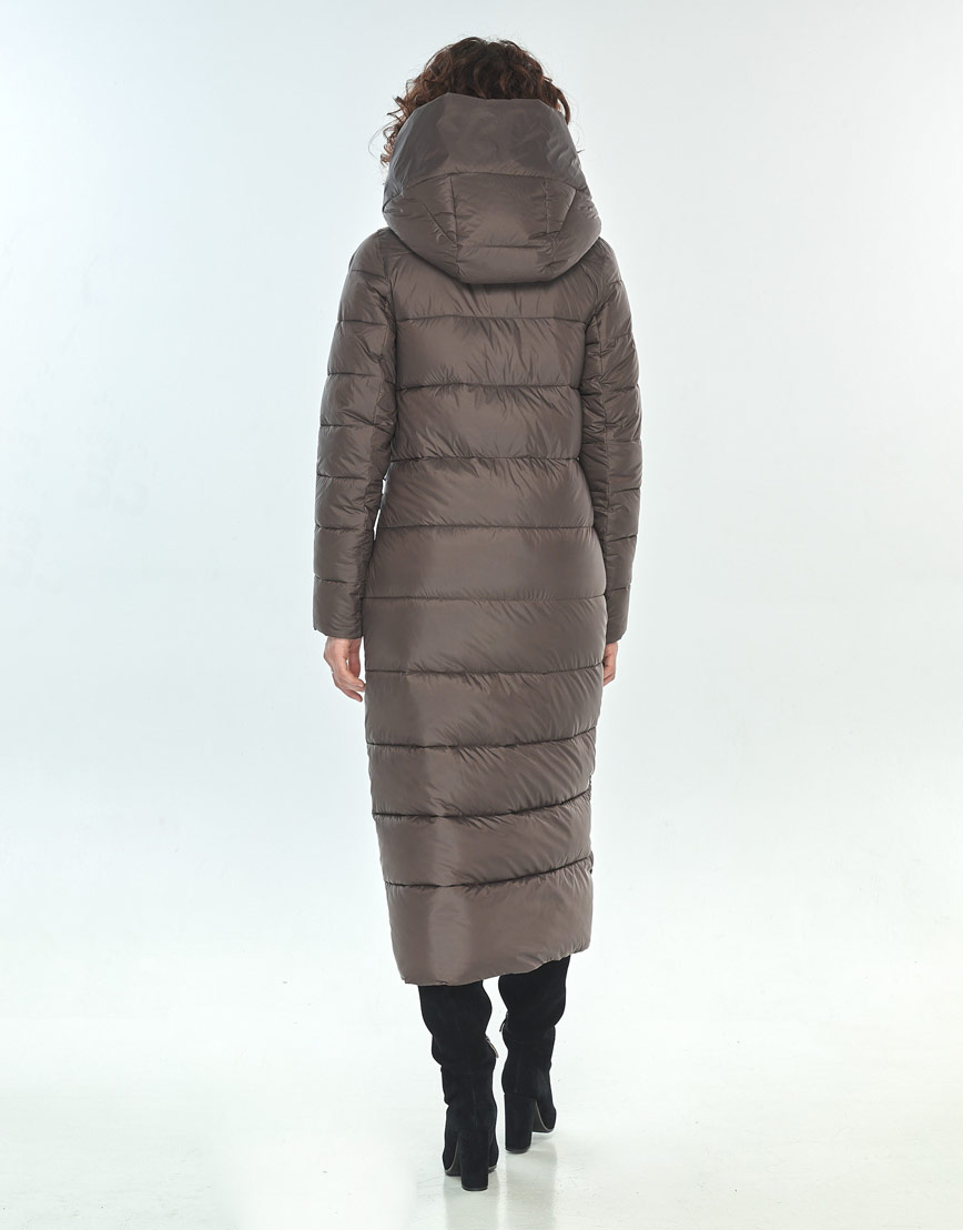 Зимняя капучиновая куртка женская Moc длинная M6471 фото 3