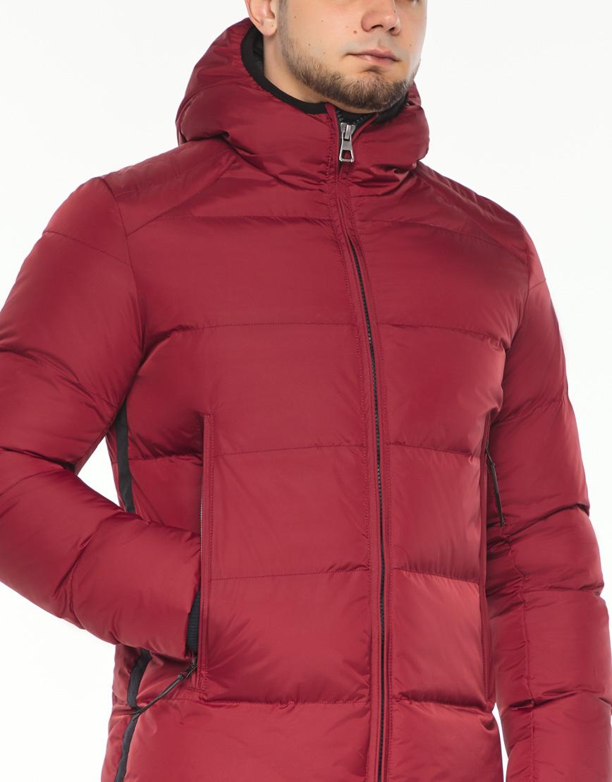 Брендовая куртка красная зимняя модель 38050 фото 5