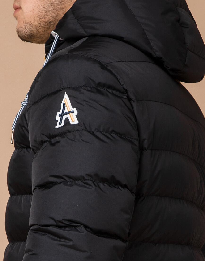 Куртка на зиму мужская цвет черный-желтый модель 35228 оптом фото 6