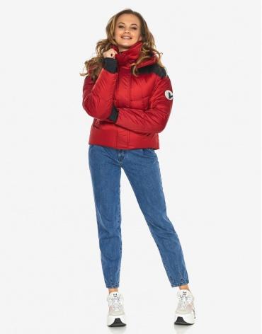 Куртка пуховик Youth рубиновый качественный молодежный модель 24180 фото 1