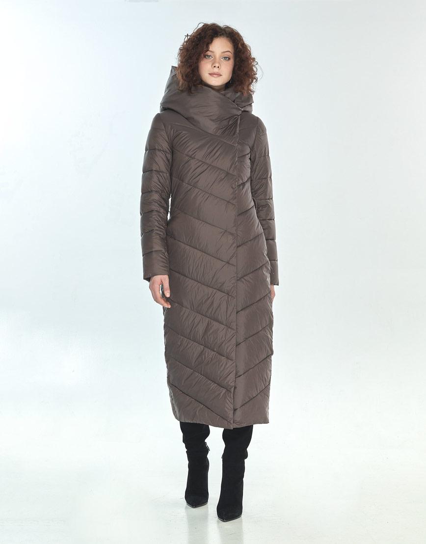 Зимняя капучиновая куртка женская Moc длинная M6471 фото 2