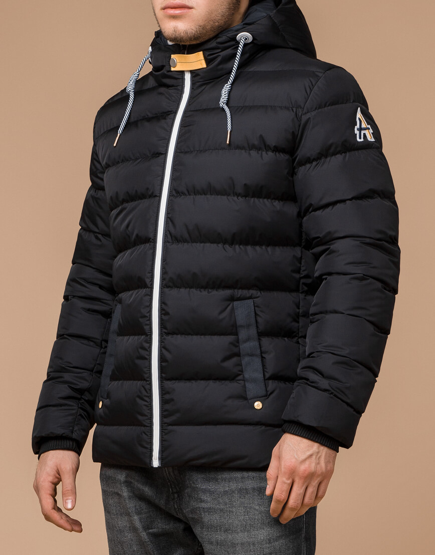 Куртка на зиму мужская цвет черный-желтый модель 35228 оптом фото 1