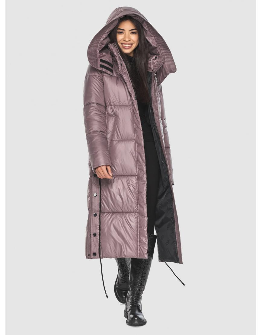 Длинная пудровая куртка Moc женская модная M6874 фото 5