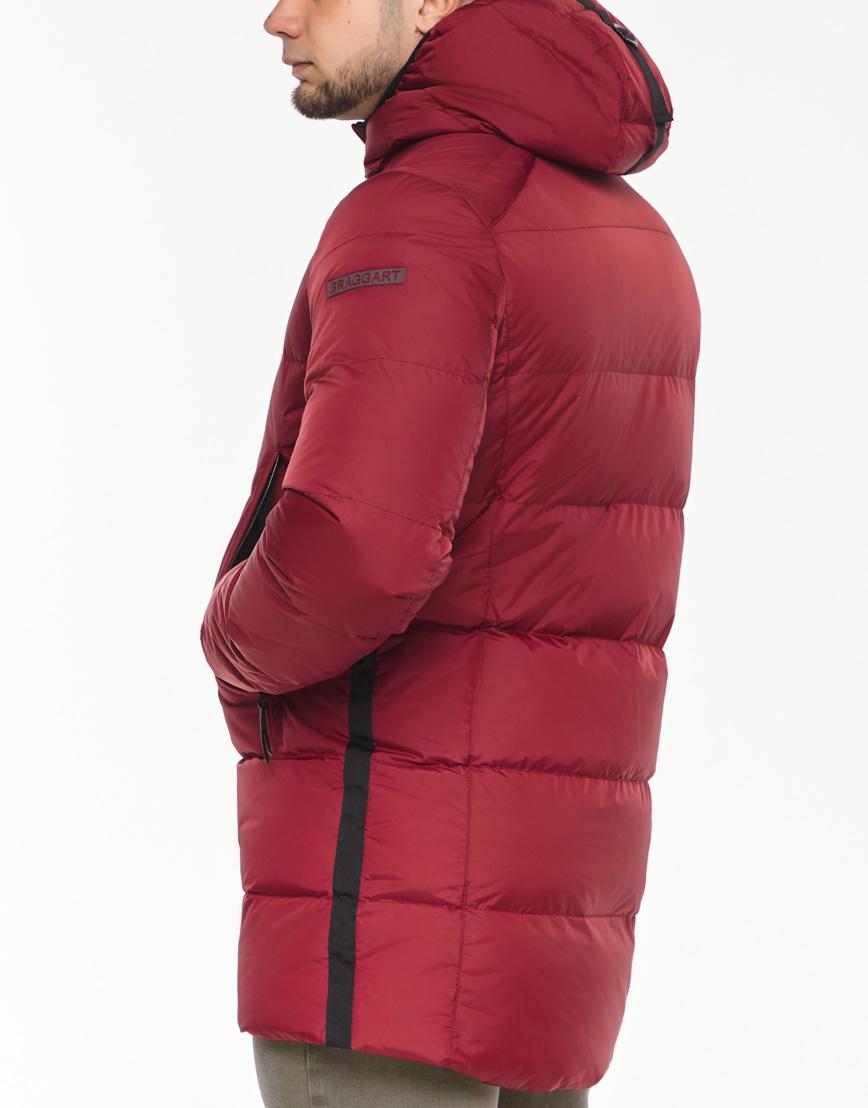 Брендовая куртка красная зимняя модель 38050 фото 6