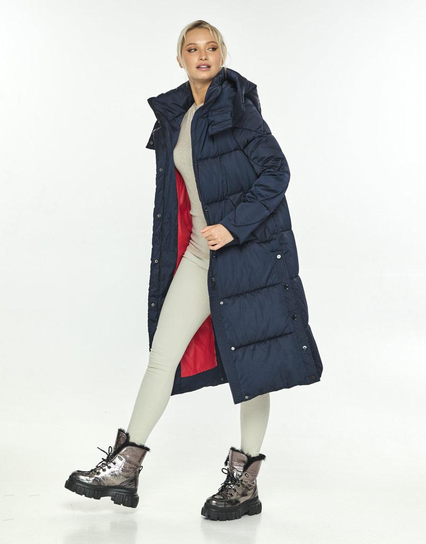 Зимняя синяя куртка женская Kiro Tokao стильная 60024 фото 1