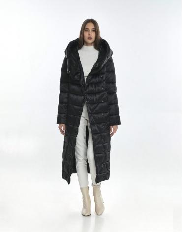 Люксовая куртка женская Vivacana чёрная 9470/21 фото 1
