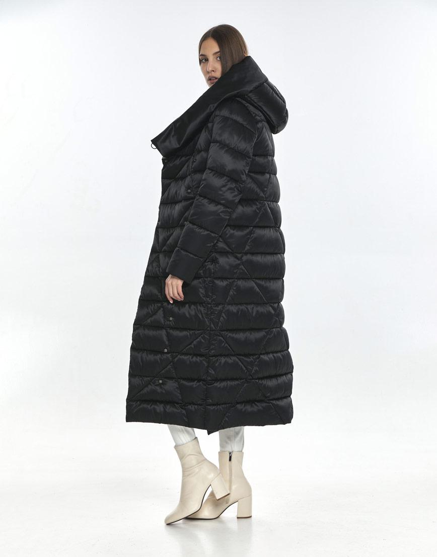 Люксовая куртка женская Vivacana чёрная 9470/21 фото 3