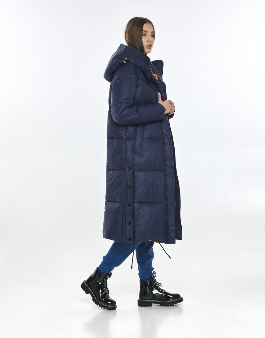 Синяя модная куртка Vivacana женская для зимы 7654/21 фото 3