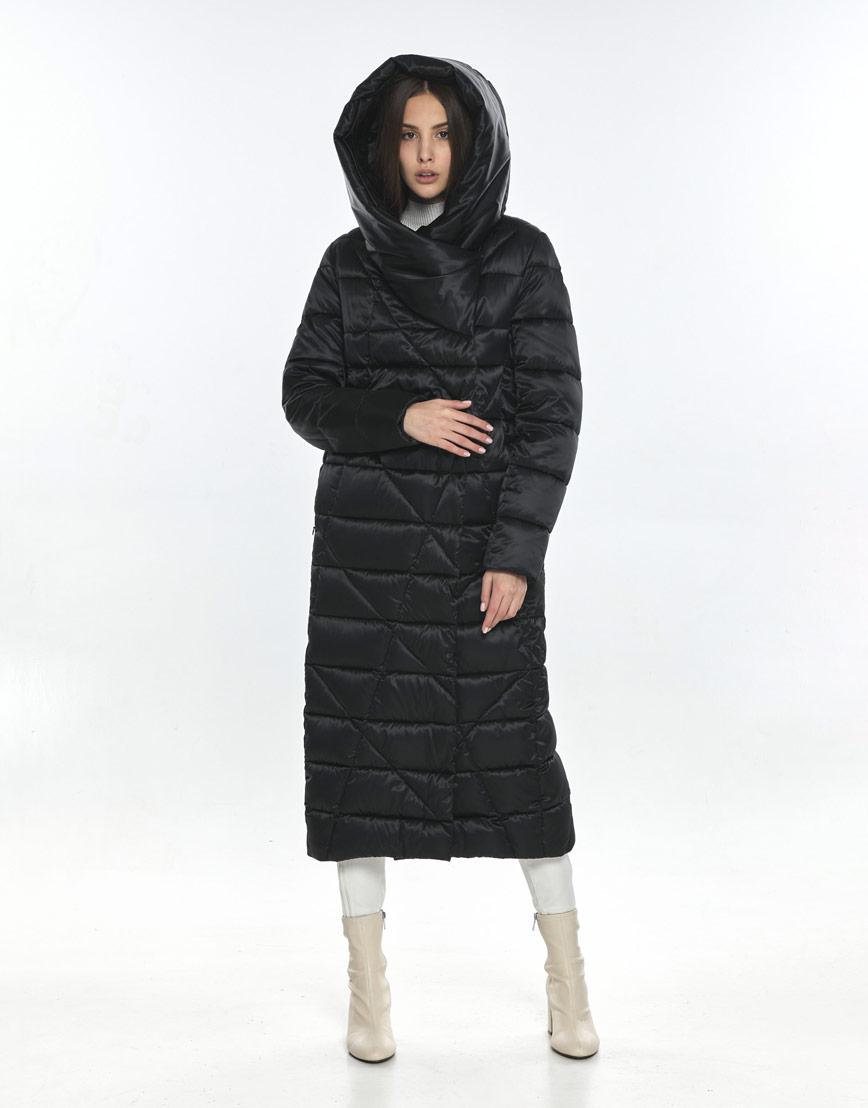 Люксовая куртка женская Vivacana чёрная 9470/21 фото 2