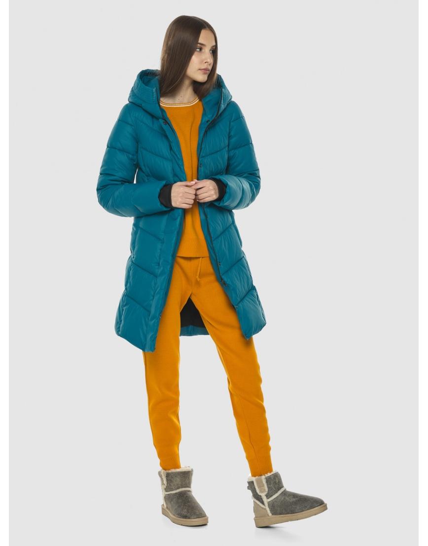 Стильная аквамариновая куртка женская Vivacana 7821/21 фото 2