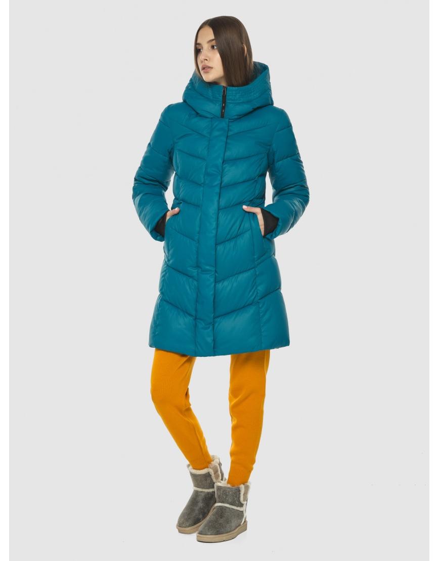Стильная аквамариновая куртка женская Vivacana 7821/21 фото 1