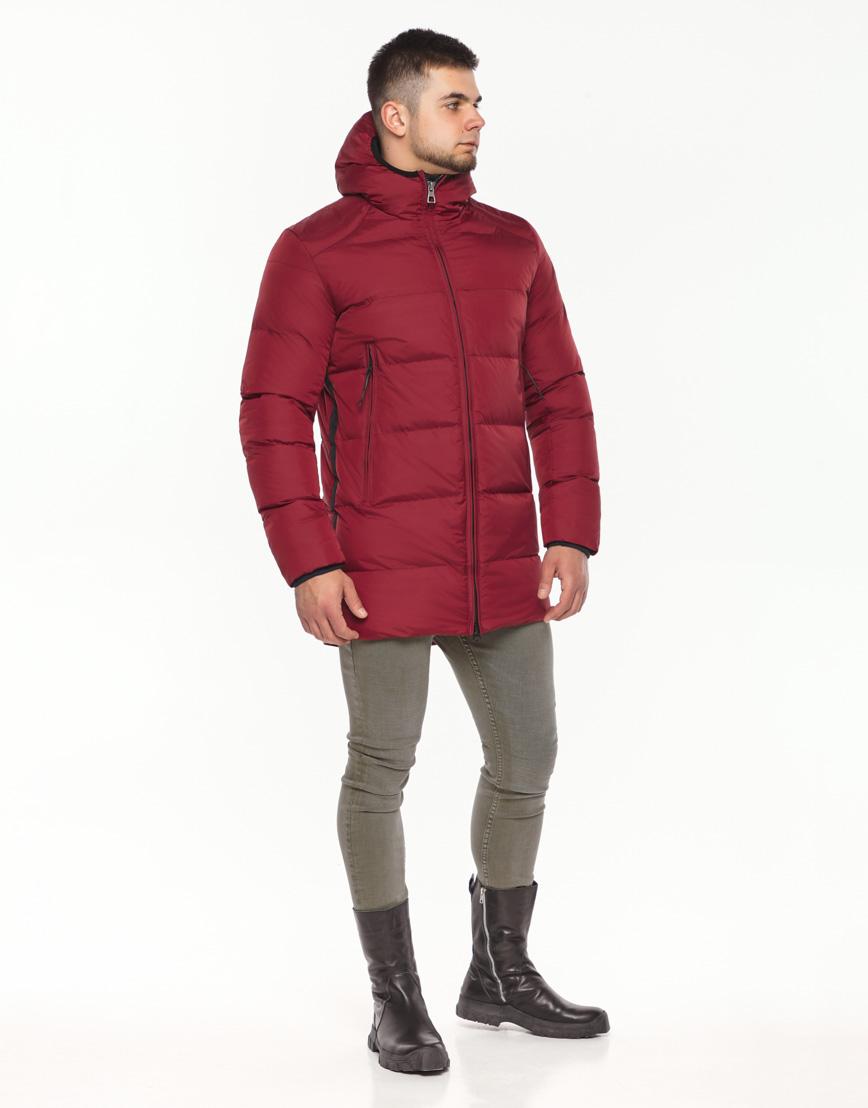 Брендовая куртка красная зимняя модель 38050 фото 1
