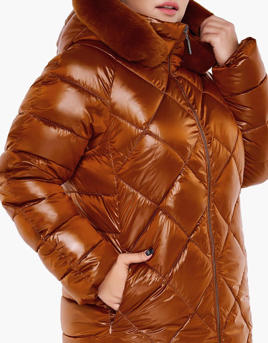 Зимний воздуховик женский Braggart цвет сиена модель 31046 фото 6