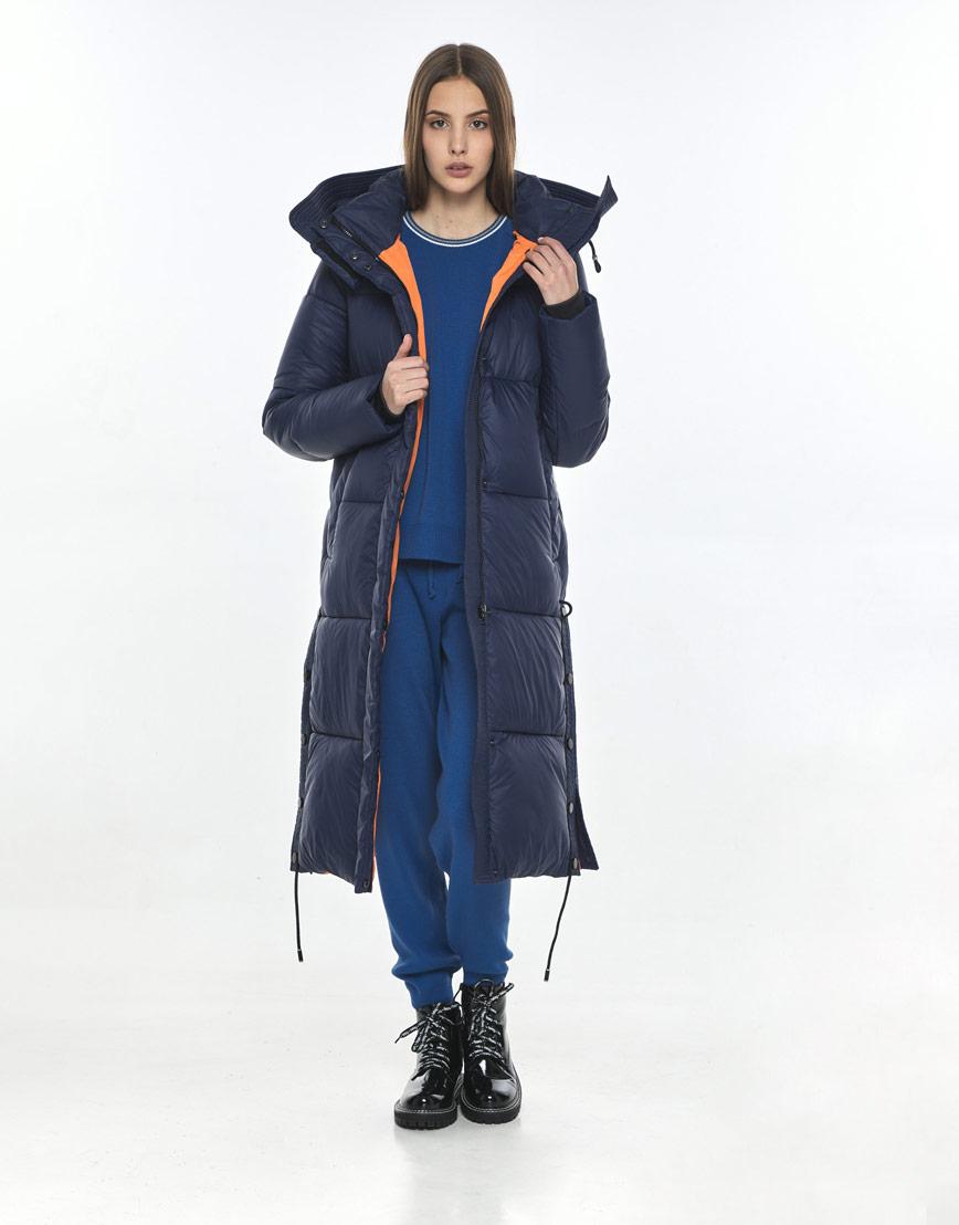 Синяя модная куртка Vivacana женская для зимы 7654/21 фото 2