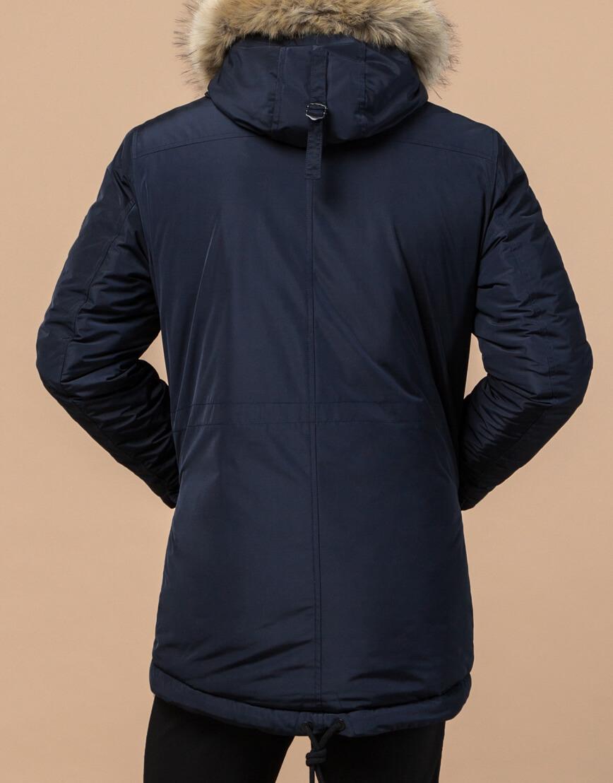 Зимняя парка для мужчин цвет синий модель 27830 оптом