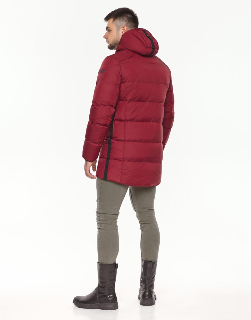Брендовая куртка красная зимняя модель 38050 фото 4