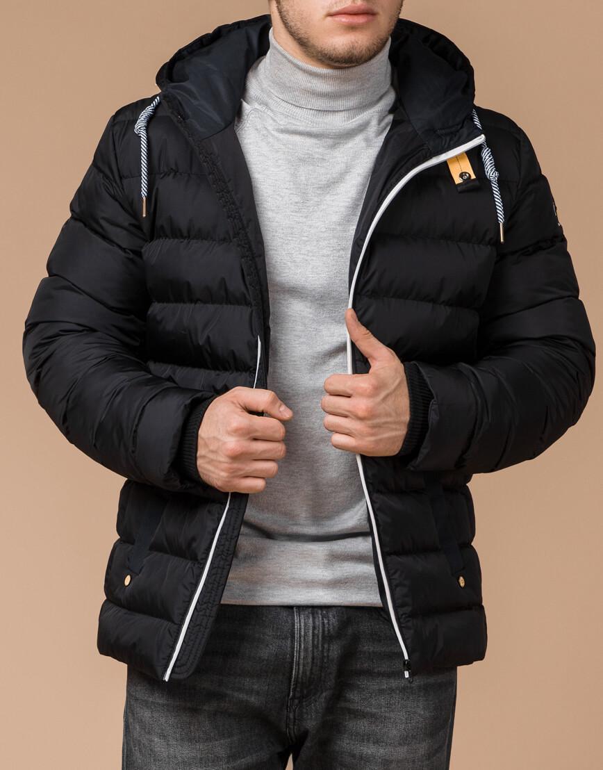 Куртка на зиму мужская цвет черный-желтый модель 35228 оптом фото 2