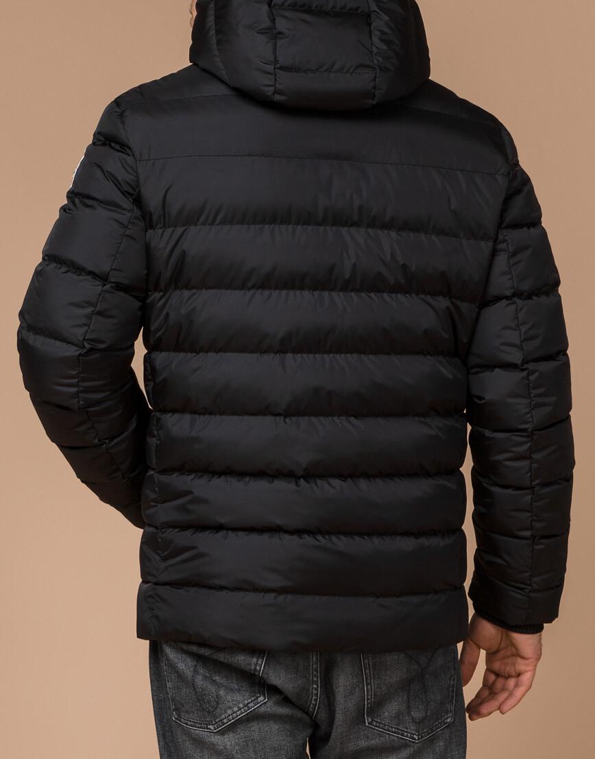 Куртка на зиму мужская цвет черный-желтый модель 35228 оптом фото 3