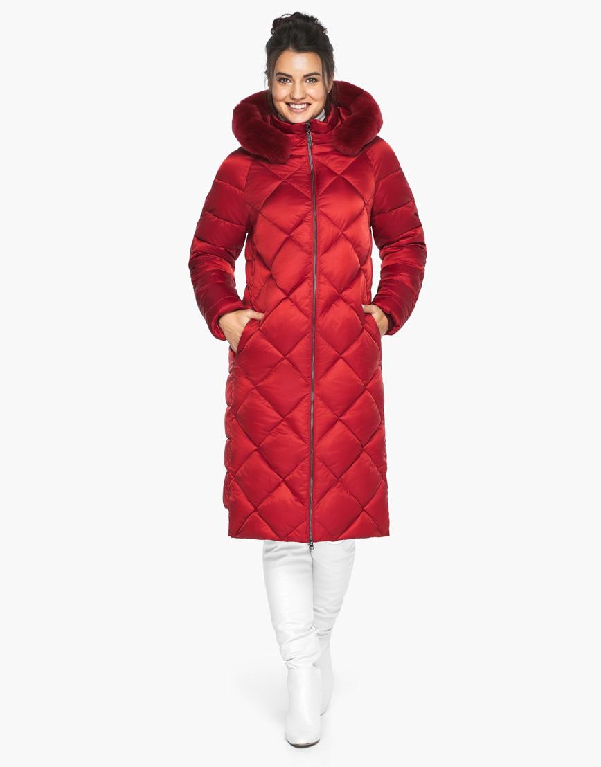 Зимний женский воздуховик Braggart рубинового цвета модель 31046 фото 1