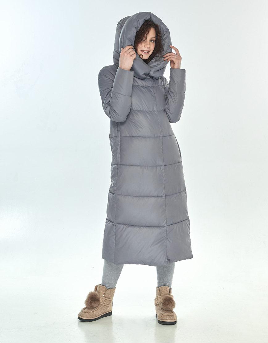 Куртка Moc серая женская с капюшоном зимняя M6530 фото 2