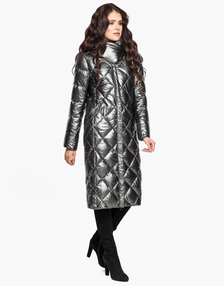 Зимний женский воздуховик Braggart комфортный цвет темное серебро модель 31031 фото 2