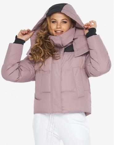 Пуховик куртка Youth молодежная пудровая женская модель 24180 фото 1