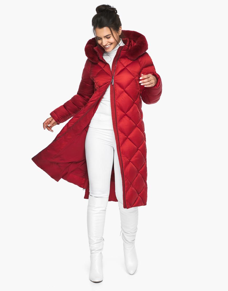 Зимний женский воздуховик Braggart рубинового цвета модель 31046 фото 2