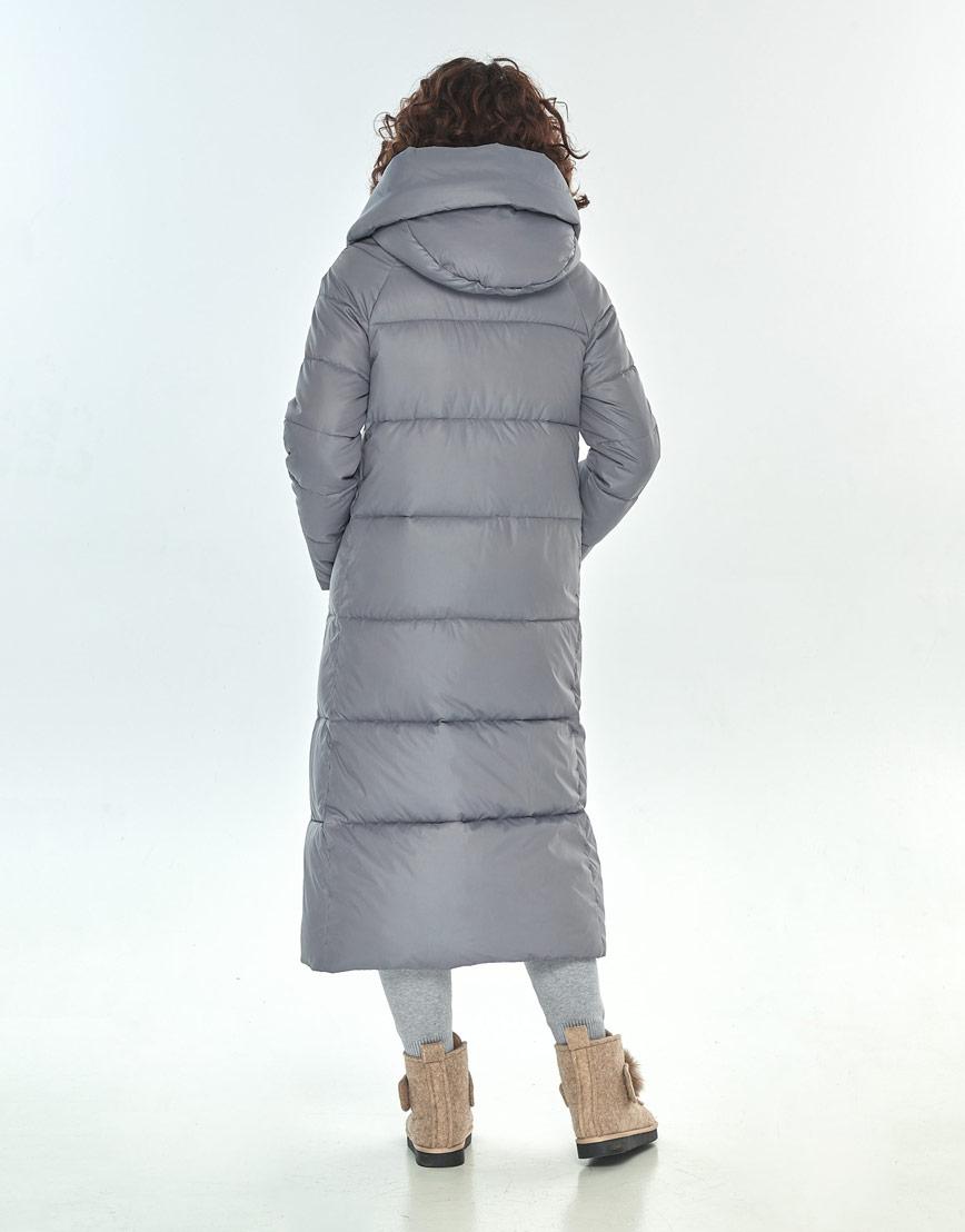 Куртка Moc серая женская с капюшоном зимняя M6530 фото 3