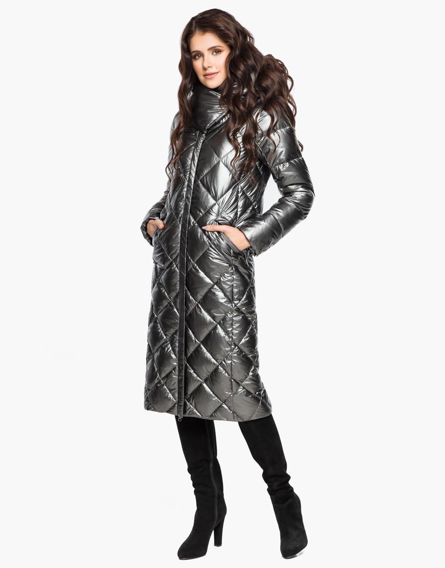 Зимний женский воздуховик Braggart комфортный цвет темное серебро модель 31031 фото 4