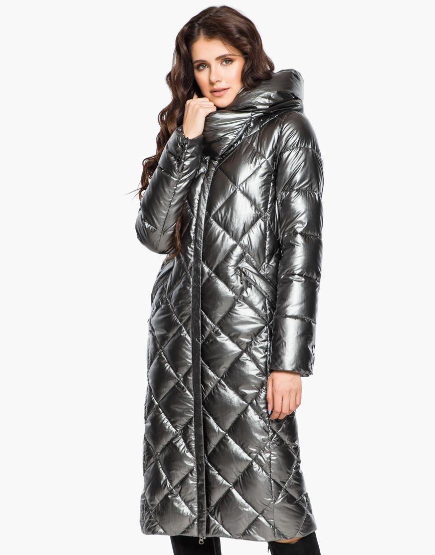 Зимний женский воздуховик Braggart комфортный цвет темное серебро модель 31031 фото 1