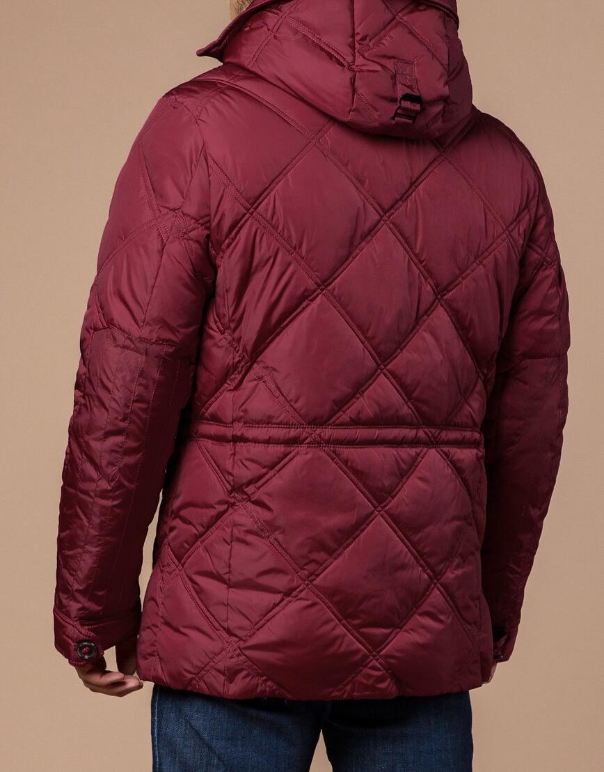 Дизайнерская куртка красного цвета модель 12481 фото 3