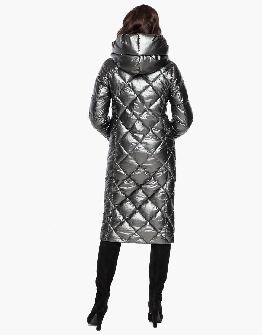 Зимний женский воздуховик Braggart комфортный цвет темное серебро модель 31031 фото 6