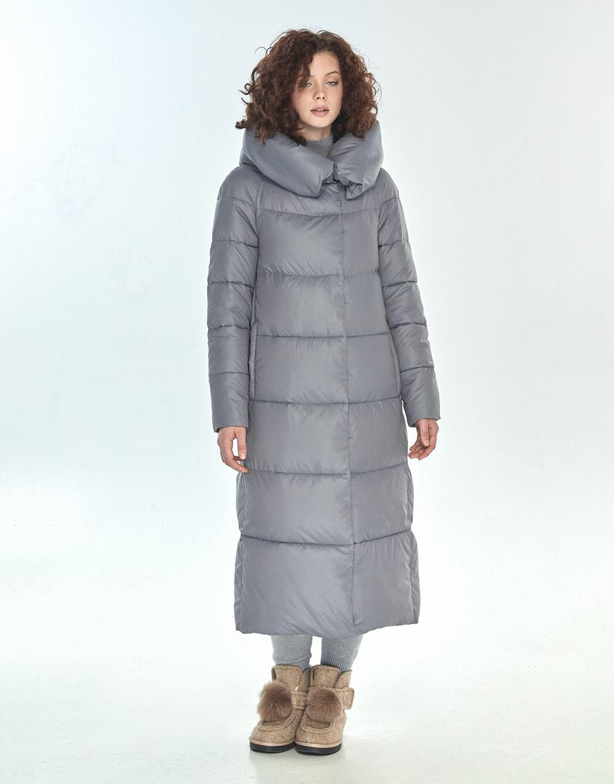 Куртка Moc серая женская с капюшоном зимняя M6530 фото 1
