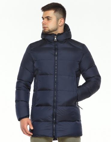 Удобная куртка темно-синяя зимняя модель 38050 фото 1