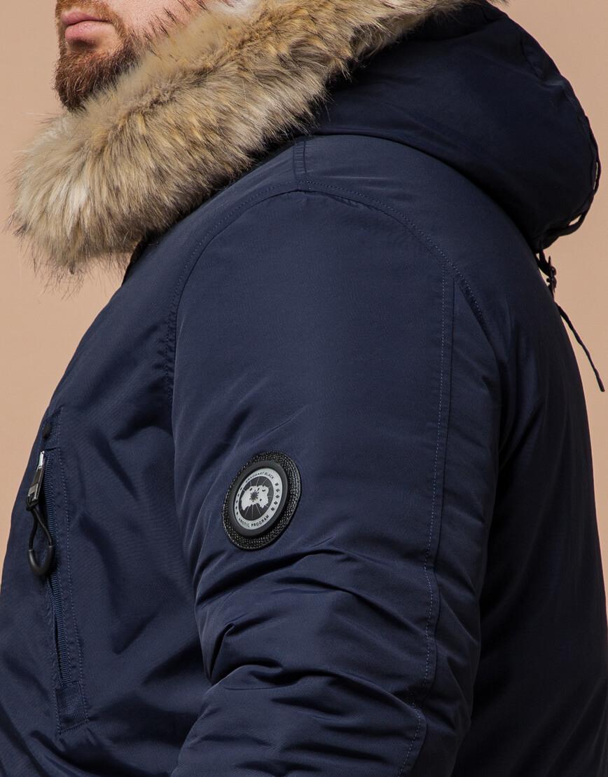 Мужская синяя парка на зиму модель 91660 оптом