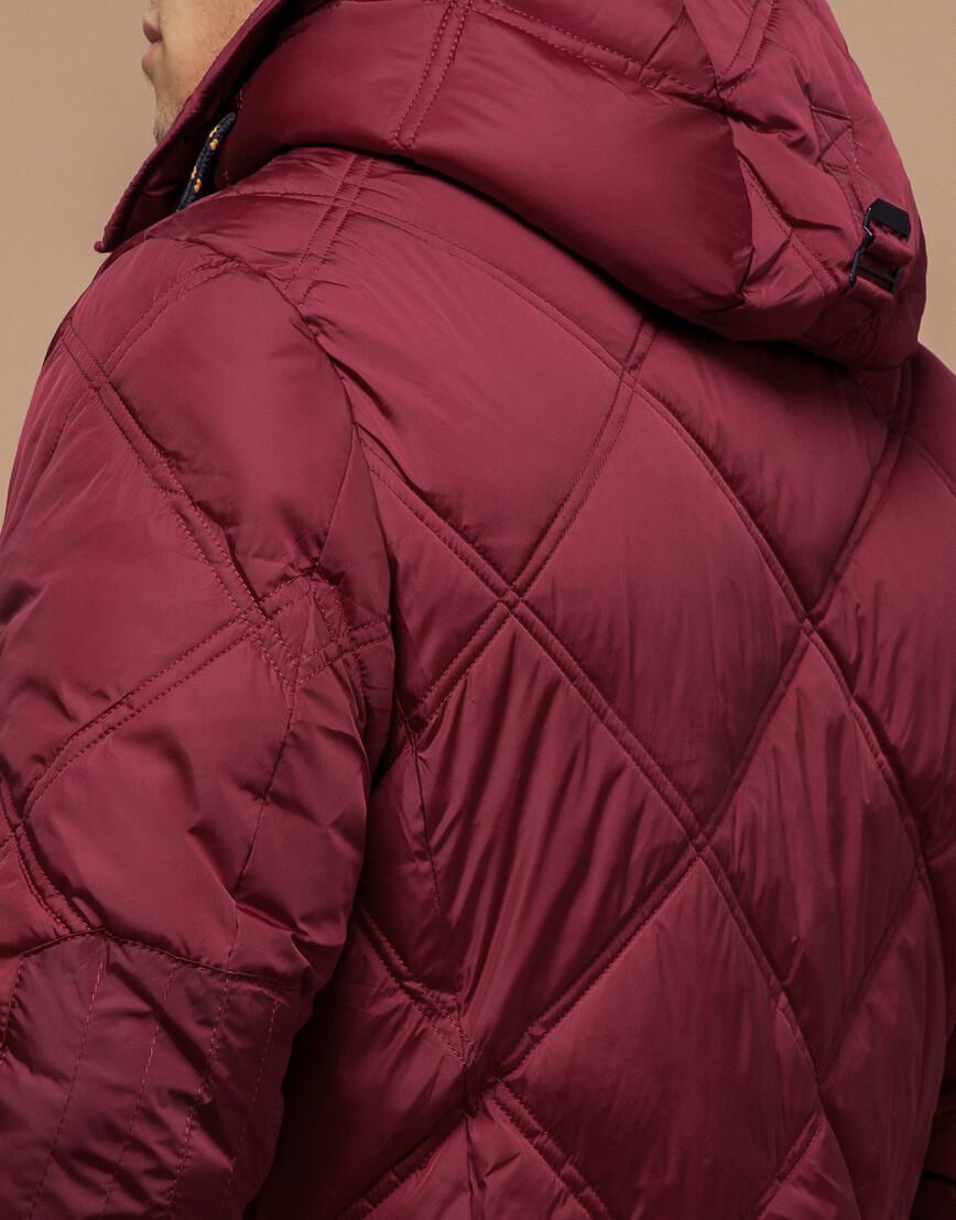 Дизайнерская куртка красного цвета модель 12481 фото 6