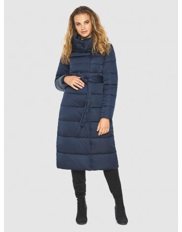 Длинная подростковая синяя куртка зимняя Kiro Tokao 60015 фото 1