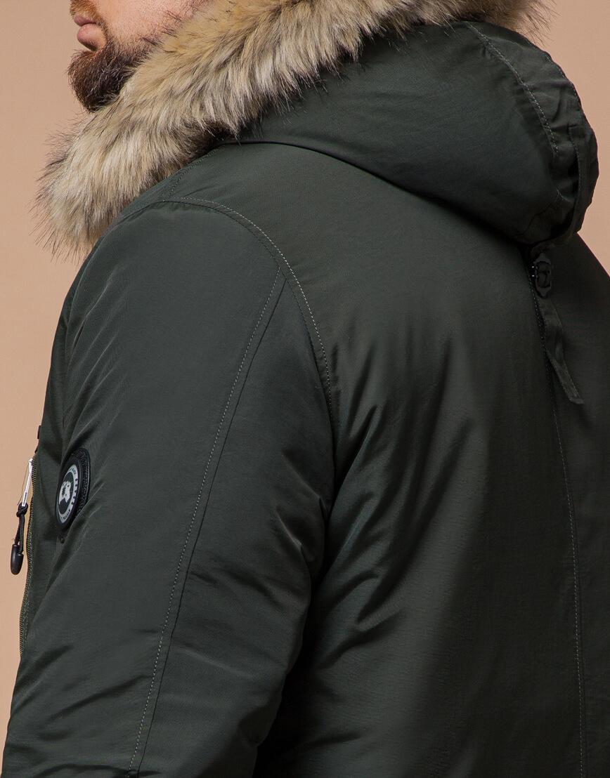Парка для мужчин зимняя цвета хаки модель 91660 оптом фото 6