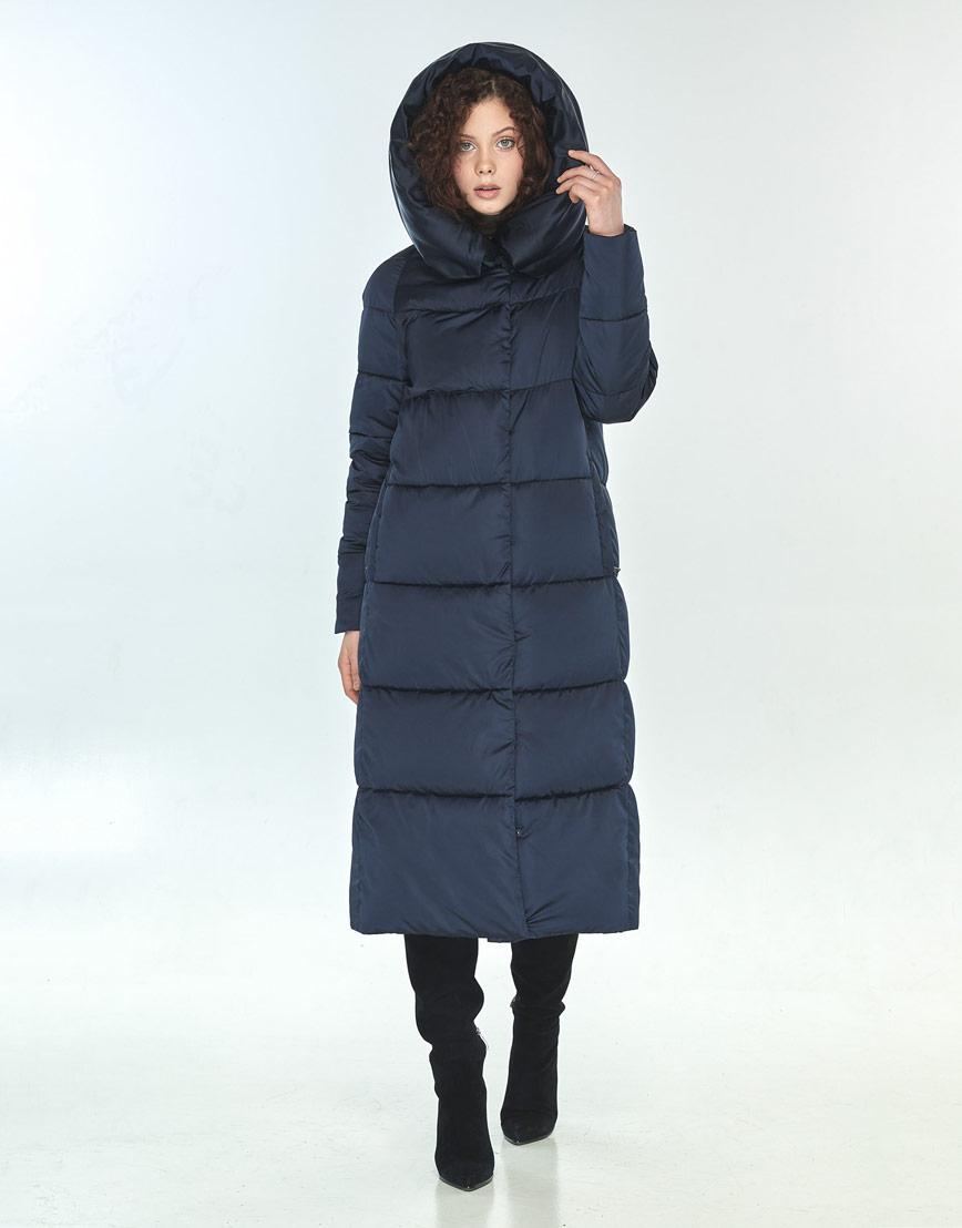 Куртка Moc синяя свободного фасона зимняя женская M6530 фото 2