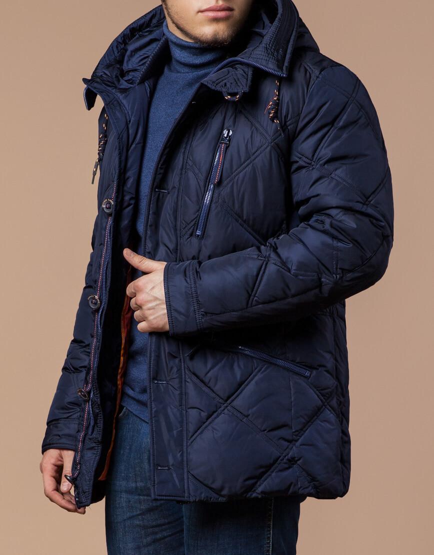 Современная куртка темно-синего цвета модель 12481 фото 2