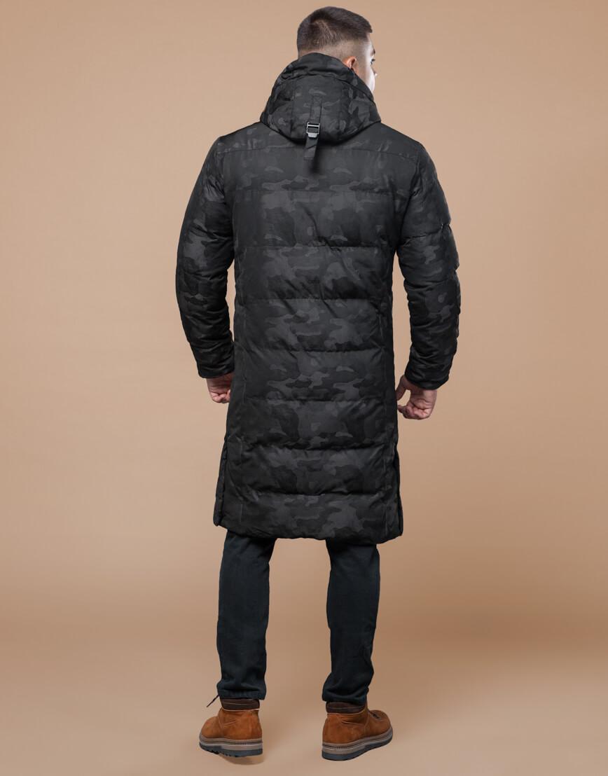 Комфортная зимняя куртка черная дизайнерская модель 25100 фото 4