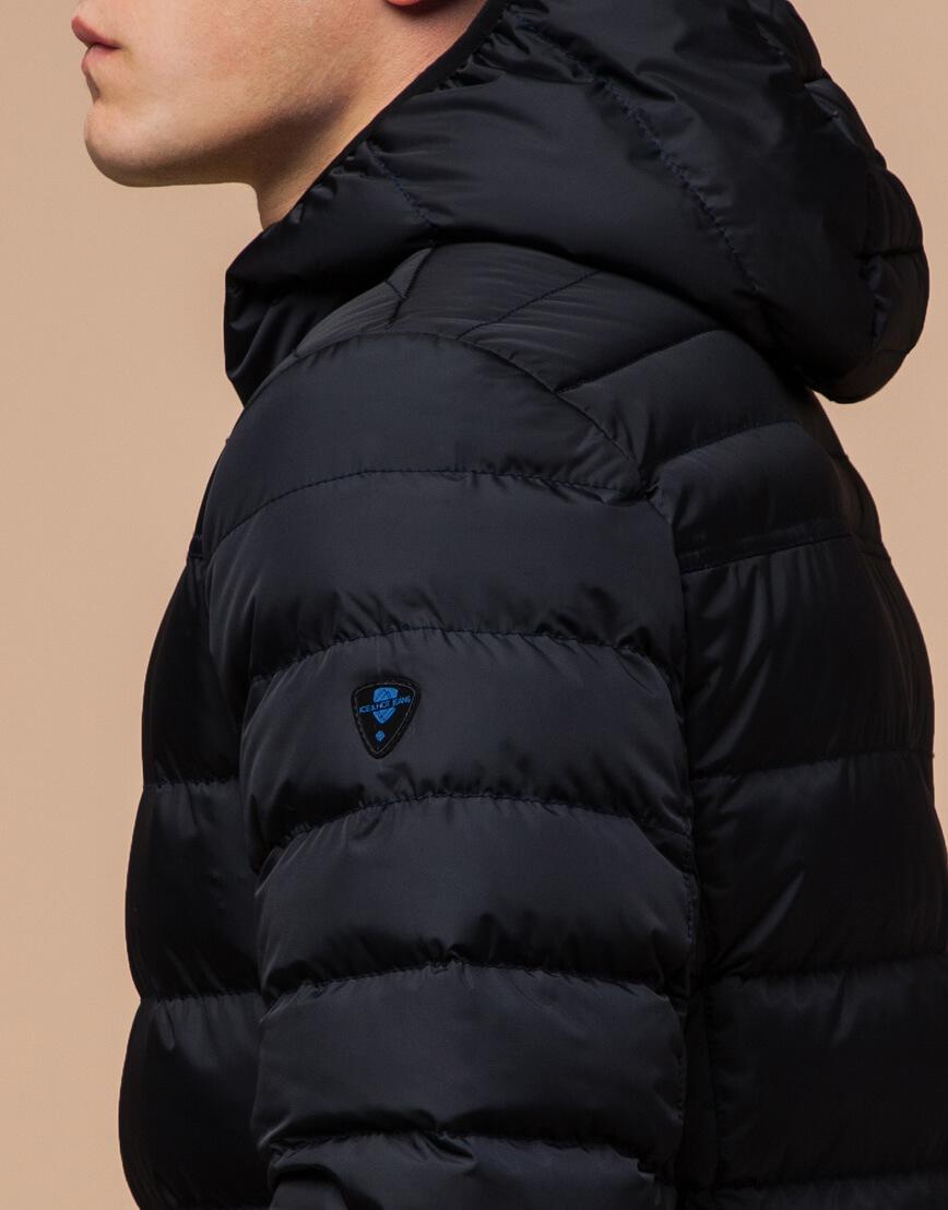 Куртка сине-черная с удобным капюшоном модель 25490 фото 6