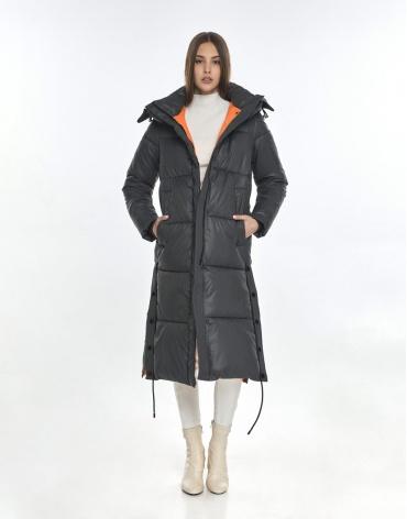 Зимняя серая куртка Vivacana комфортная женская 7654/21 фото 1